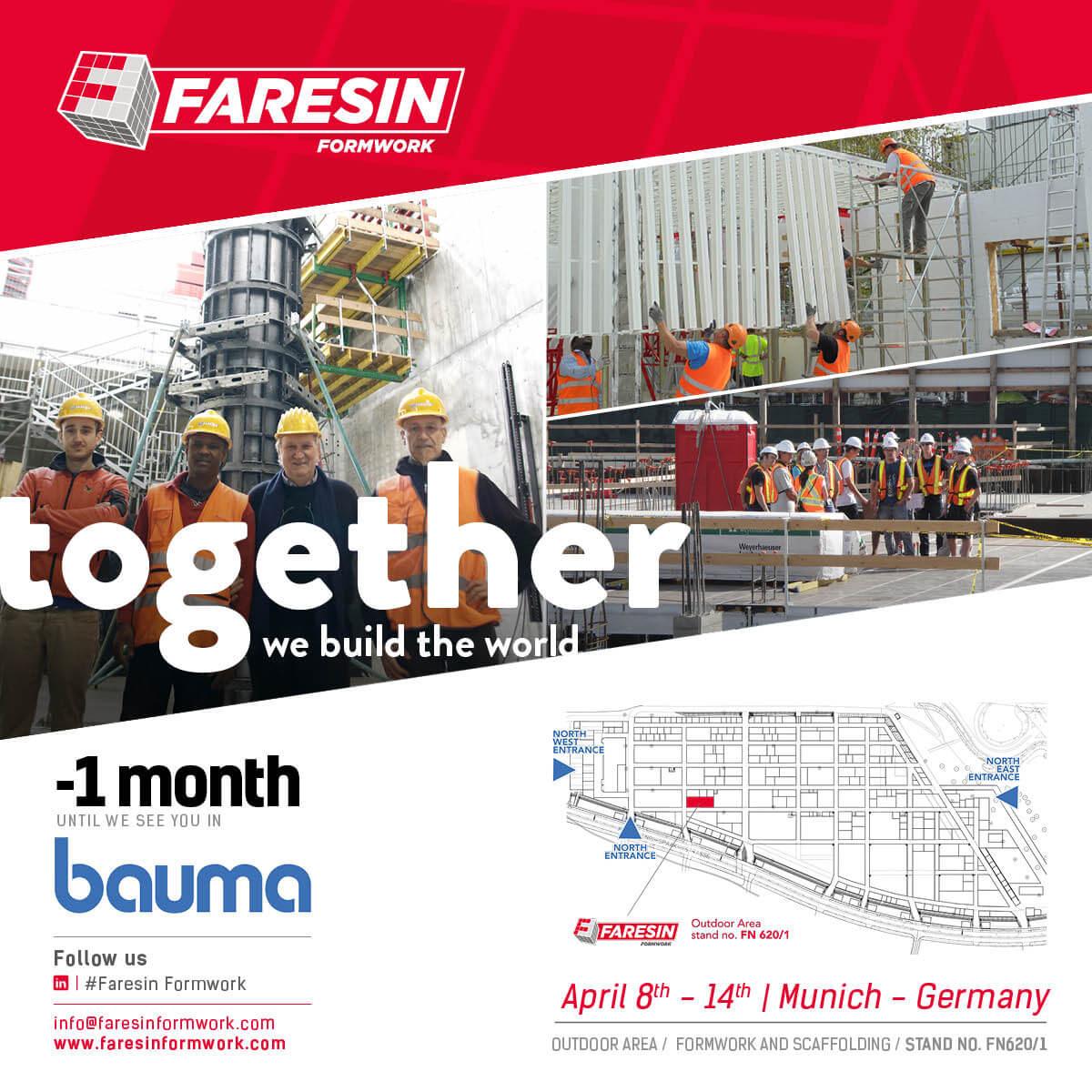 COUNTDOWN BAUMA 2019 – 1 MONTH